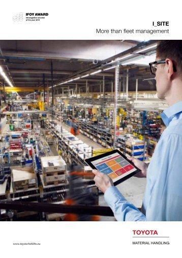 More than fleet management - Toyota Material Handling Europe