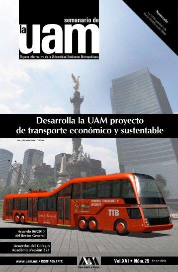 Desarrolla la UAM proyecto de transporte económico y sustentable