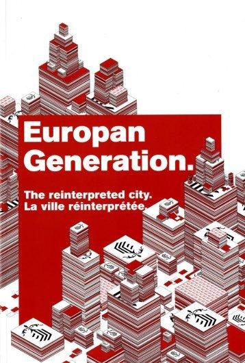 Catalogue Europan Generation / 2007 - Atelier Boudry