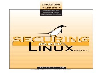 A Survival Guide for Linux Security