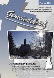 Februar 2011 Monatsspruch Februar: - posaunenchor ...