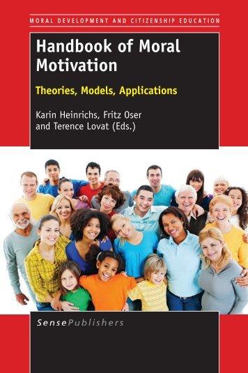 Handbook of moral motivation: Theories, models ... - Sense Publishers