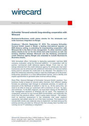 Brosch re versand for Schneider versand privatkunden