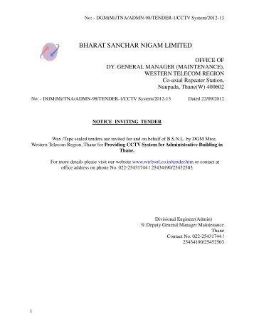 financial bid-i - WTR - BSNL