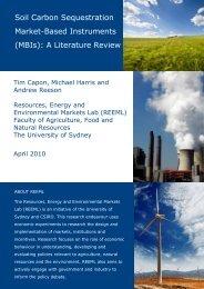 Soil carbon sequestration market-based instruments (MBIs): A ...