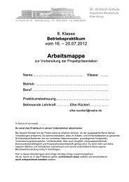 Arbeitsmappe - Realschule Ebersberg