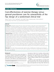 Cost-effectiveness of exercise therapy versus ... - BioMed Central