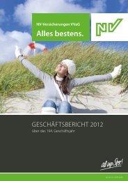 Geschäftsbericht 2012 - NV Versicherung