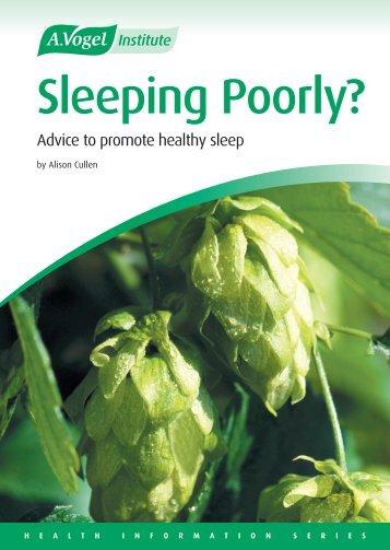 Sleeping Poorly? - A.Vogel