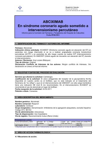 ABCIXIMAB En síndrome coronario agudo sometido a ...