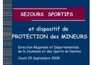 Séjours sportifs et dispositif de PROTECTION des MINEURS