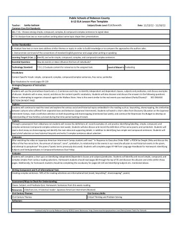 Middle School Lesson Plan Template - Lesson plan templates for middle school