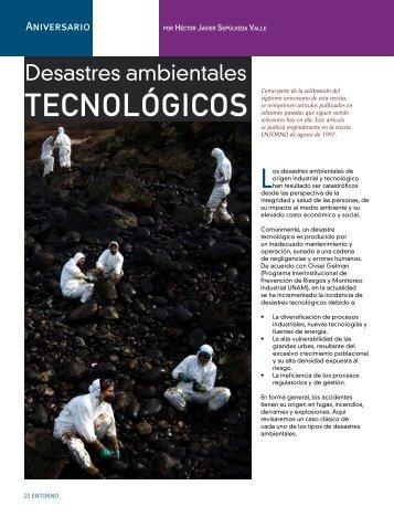 Desastres ambientales tecnológicos - Coparmex