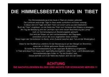 DIE HIMMELSBESTATTUNG IN TIBET