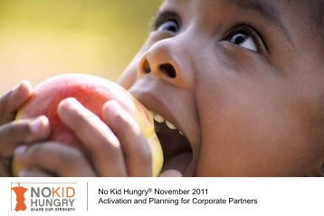No Kid Hungry® November 2011 Activation and Planning for ...