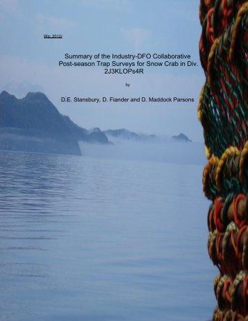 4R Snow Crab Survey Summary 2011 - FFAW