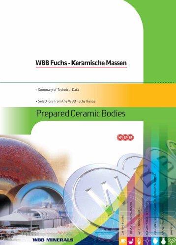 Prepared Ceramic Bodies - WBB Minerals