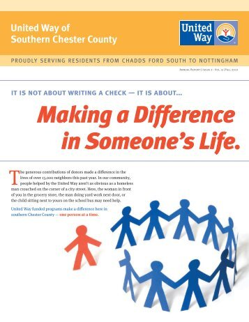 Making a Difference in Someone's Life. - United Way of Southern ...