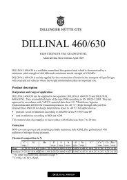 DILLINAL 460/630 - Dillinger Hütte GTS