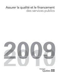Assurer la qualité et le financement des services publics - Budget