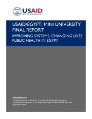 Improving Systems, Changing Lives: Public Health in Egypt