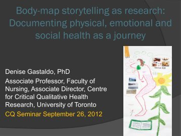 Body-map storytelling as research - CQ - University of Toronto