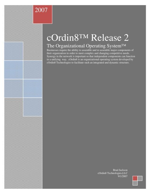 The Organizational Operating System - cordin8
