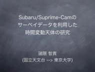 Hyper Suprime-Cam - 東京大学