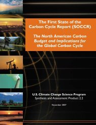 The First State of the Carbon Cycle Report - US Climate Change ...