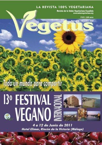 Descarga en PDF la revista Vegetus nº 16 - Unión Vegetariana ...