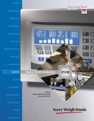Measure. Control. Communicate. Avery Weigh-Tronix Indicators