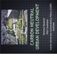 Carbon Neutral Urban Development - Environment Institute of ...