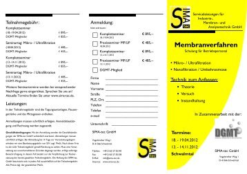 Schulungen 2012 - SIMA-tec GmbH