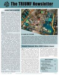 The TRIUMF Newsletter
