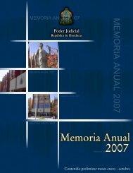 MEMORIA ANUAL 2007 - Poder Judicial