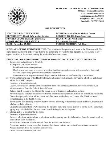 job description for file clerk ingham county job description