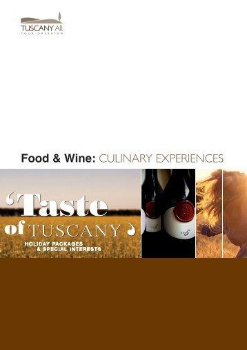 Gastronomic Programs - TuscanyAll