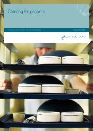Catering for patients (PDF   261 KB)Opens in new ... - Audit Scotland