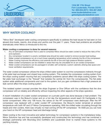 WHY WATER COOLING? - Lauderdale Diver
