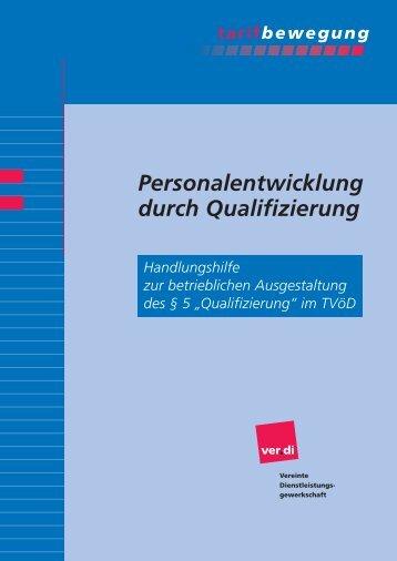 Personalentwicklung durch Qualifizierung - mti - Ver.di
