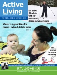 Active Living Guide - Winter/Spring Edition 2013 - City of St. John's