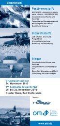 19. Symposium Bioenergie - Bdoel