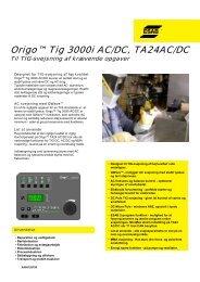 Origo™ Tig 3000i AC/DC, TA24AC/DC - Svejsehuset A/S