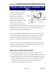 Pelvic floor muscle training for men 2010