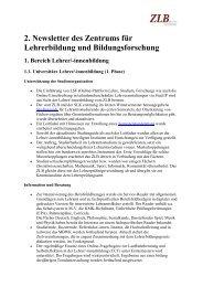 2. Newsletter (2010) - Zentrum für Lehrerbildung und ...