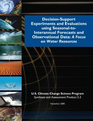 Decision support experiments and evaluations using seasonal to ...