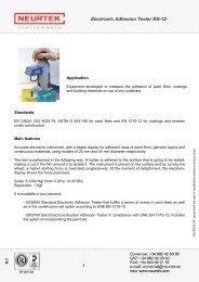 Electronic Adhesion Tester KN-10 - Neurtek