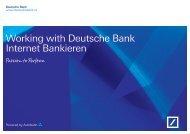 Working with Deutsche Bank Internet Bankieren