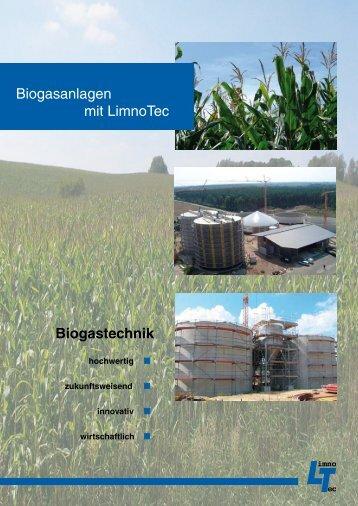 Biogastechnik Biogasanlagen mit LimnoTec