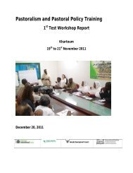 Pastoralism and Policy Training First Test Workshop Report